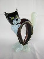 Üveg macska cica
