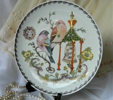 Ole Winther  fali tányér, pirók madár pár, sorozat,  február, gyűjtői