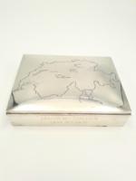 Ajándéknak!!! Antik ezüst doboz Svájc térképpel 925-ös