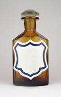 0Y744 Antik patika üveg 16.5 cm