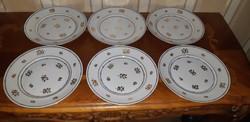 Herendi Batthyányi  mintás süteményes tányér 6 db