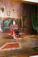 Antik szignált festmény G91