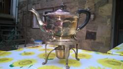 1800-as évek főúri asztaláról-Teáskanna melegítő-étel melegentartó ezüstözött