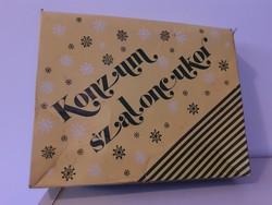Retro szaloncukros doboz Budapest Csokoládégyár Konzum