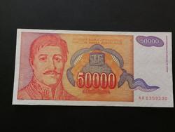 Jugoszlávia 50000 Dinar aUNC 1994
