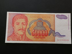 Jugoszlávia 50000 Dinar UNC 1994