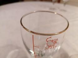 Két talpas, ír kávés pohár, aranyozott szegéllyel. Szép, különleges, hibátlan darabok!