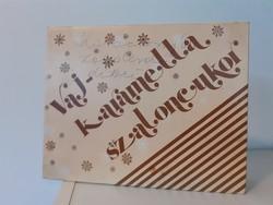Retro szaloncukros doboz Budapest Csokoládégyár Vajkaramella
