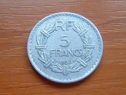 FRANCIA 5 FRANCS FRANK 1950 ALU #