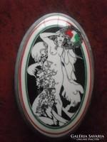 Faragó Miklós hollóházi porcelán bonbonier