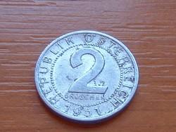 AUSZTRIA OSZTRÁK 2 GROSCHEN 1951 ALU.