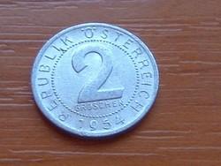 AUSZTRIA OSZTRÁK 2 GROSCHEN 1954 ALU.