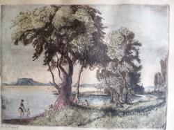 Breznay József: Balatonpart 1954