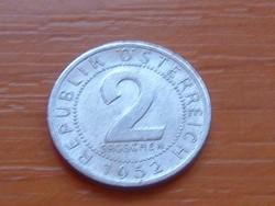AUSZTRIA OSZTRÁK 2 GROSCHEN 1952 ALU.