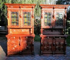 Reneszánsz tálaló szekrények párban