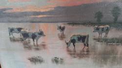 Festmény, jakab károly olaj vaszon