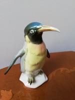 Gyönyörű német Ens színes porcelán pingvin madár figura
