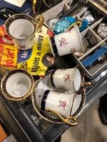 GDR-es porcelán, hatszemélyes kávés készlet, tökéletes állapotban.