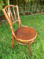 Jelzett, nyomott mintás, eredeti antik osztrák Thonet szék stabil állapotban