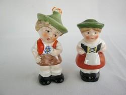 Goebel porcelán kisfiú és kislány fűszerszóró pár