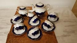 Zsolnay Pompadur porcelán teáskészlet 6 személyre