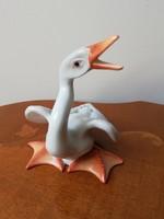 Herendi antik porcelán hattyú sroszámozott jelzett hibátlan madár figura