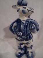Porcelán - JELZETT - kézi festésű - Kecske - 13 x 7 x 4 cm - tökéletes - hibátlan