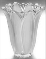 Szemetgyönyörködtető francia kristály váza Lalique stilus ! Jelzett