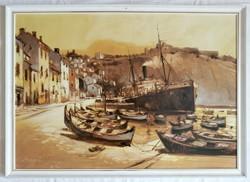 """Bánfalvy Ákos """"Cassis, Dél-Franciaország"""" c. olajfestmény ingyenes házhoz szállítással"""