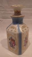 Antik kézzel festett porcelán dugós palack