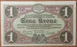 Zalaegerszeg 1 Korona - aUNC