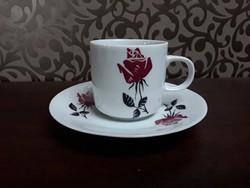 2954 - Bohémia rózsás kávés csésze aljjal