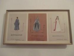 Tannhauser opera jelmezek,dallamok,kotta,képekben. 35 x 19 cm.