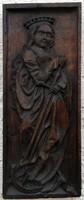 Német szobrász! Szent Katalin!! Antik 18sz. körül!