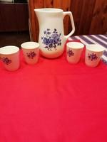 Gyönyörű gránit kancsó ajándék 4 pohárral