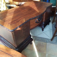 Antik barokk restaurált íróasztal