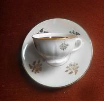 300,- Ft-os KINCSEK/  Jelzett KÁVÉS SZETT Arany virág még a csésze belsejében is,