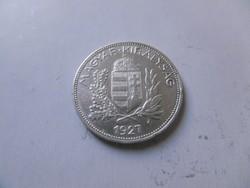 Ezüst 1 Pengős  1927 ritka  aUNC