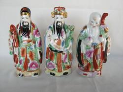 A három keleti bölcs Luk Fuk és Sau nagyobb méretű porcelán figurák