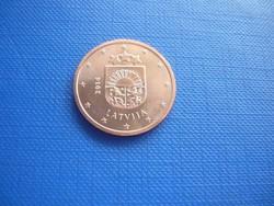 LETTORSZÁG 5 EURO CENT 2014 ! UNC! RITKA!!