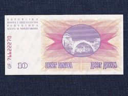 Bosznia-Hercegovina 10 Dínár bankjegy 1992 UNC / id 12945/