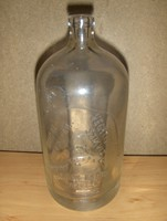 Antik dombor védjegy feliratos szódásüveg 1 literes BÖHM MÓR BUDAPEST