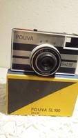 Pouva fényképező, fényképezőgép, régi, retro