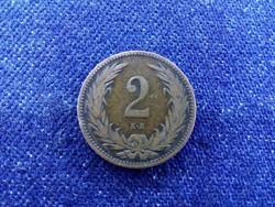 Szép patinás Osztrák-Magyar 2 fillér 1895 KB BU / id 11612/