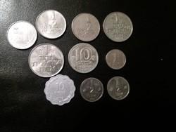 Izrael, 10 darab érme egyben.