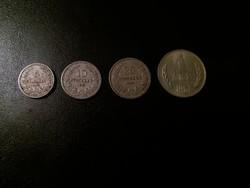 Bulgária, 4 db érme egyben.