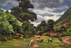 """Widder Félix (1874 - 1939 ) """" Legelésző tehenek....!!"""