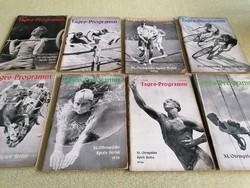 Az 1936-os Berlini Olimpia programfüzetei 12db