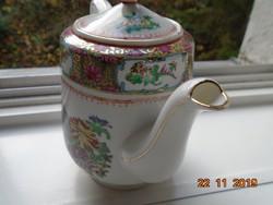 Kézzel festett Aranyzománc Paradicsom madár,krizantém mintákkal,kézzel jelzett kínai teás kiöntő