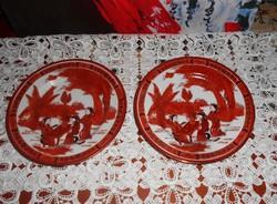 Jelzett Narancs-arany gésás tányér 15 cm